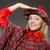 mujer · tradicional · ropa · feliz · bolsa - foto stock © elnur