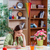 ragazza · pennello · desk · felice · bambino - foto d'archivio © elnur