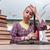 fiatal · női · diák · vizsgák · könyvek · iskola - stock fotó © elnur