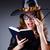 bruja · magia · libro · cara · horripilante · ahumado - foto stock © elnur