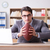 Businessman with american football in office stock photo © Elnur