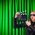 dziewczyna · film · kamery · starych · odizolowany - zdjęcia stock © elnur