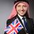 arab · férfi · Egyesült · Királyság · zászló · üzlet · háttér - stock fotó © elnur