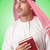 arab man praying on white stock photo © elnur