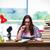 femenino · estudiante · química · exámenes · libros · escuela - foto stock © elnur