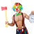 clown with clock and axe on white stock photo © elnur