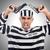 prisión · preso · arma · aislado · blanco · mano - foto stock © elnur