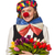 csinos · női · bohóc · virágok · izolált · fehér - stock fotó © elnur