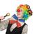 vrouwelijke · clown · geïsoleerd · witte · meisje · gelukkig - stockfoto © Elnur