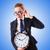 женщину · деловая · женщина · гигант · будильник · часы · работу - Сток-фото © elnur