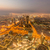 panorama of night dubai during sunset stock photo © elnur