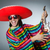 mexican playing guitar wearing sombrero stock photo © elnur