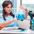 jonge · vrouw · wetenschapper · werken · microscoop · laboratorium · lab - stockfoto © elnur