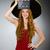 komik · Meksika · kadın · geniş · kenarlı · şapka · film · mutlu - stok fotoğraf © elnur