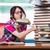 genç · kadın · öğrenci · sınavlar · ev · okuma - stok fotoğraf © elnur