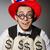 amerikaanse · hoed · symbool · vlag · star · Rood - stockfoto © elnur