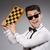 nerd · scacchi · giocatore · isolato · bianco · mano - foto d'archivio © elnur