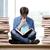 öğrenci · kitaplar · sınavlar · okul · ev · üzücü - stok fotoğraf © elnur