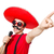 funny mexican with mic isolated on the white stock photo © elnur