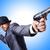 üzletember · fegyver · izolált · fehér · kéz · férfi - stock fotó © elnur