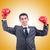 ビジネスマン · ボクシンググローブ · 白 · ビジネス · オフィス · 手 - ストックフォト © elnur