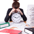 femme · femme · d'affaires · stress · manquant · horloge - photo stock © elnur