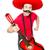 vicces · mexikói · gitár · izolált · fehér · férfi - stock fotó © elnur