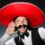 komik · Meksika · geniş · kenarlı · şapka · mutlu · Retro · beyaz - stok fotoğraf © elnur
