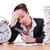 estrés · mujer · de · negocios · ejecutando · tarde · reloj · brazo - foto stock © elnur