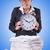 mulher · empresária · gigante · despertador · escritório · trabalhar - foto stock © elnur