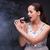młoda · dziewczyna · śpiewu · karaoke · klub · kobieta · dziewczyna - zdjęcia stock © elnur