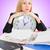 empresária · estresse · trabalhar · escritório · telefone · empresário - foto stock © elnur