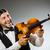 férfi · játszik · hegedű · musical · művészet · vicces - stock fotó © elnur