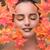 piękna · kobieta · jesienią · wyschnięcia · pozostawia · kobieta · strony - zdjęcia stock © elnur