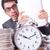 женщину · бизнесмен · гигант · будильник · часы · работу - Сток-фото © elnur