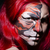 visage · de · femme · peinture · sombre · chambre · visage · mode - photo stock © elnur