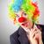 vrouw · clown · business · pak · partij · werk - stockfoto © elnur