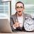 mulher · empresária · estresse · desaparecido · prazos · relógio - foto stock © elnur
