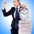 mulher · empresária · relógio · documentos · escritório · trabalhar - foto stock © elnur
