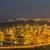 singapore container port during evening hours stock photo © elnur