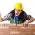 mérges · női · építőmunkás · fehér · nő · építkezés - stock fotó © elnur