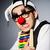 divertente · clown · abaco · contabili · sorriso · felice - foto d'archivio © elnur
