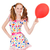 fille · regarder · rouge · ballons · sweet · enfant - photo stock © elnur