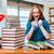 genç · kadın · öğrenci · sınavlar · kız · kitaplar - stok fotoğraf © elnur