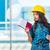 imprenditore · prendere · appunti · cucina · costruzione · strumenti · lavoratore - foto d'archivio © elnur