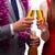 champanhe · garrafa · óculos · isolado · branco - foto stock © elnur