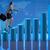 femme · d'affaires · escalade · échelle · serviette - photo stock © elnur
