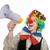 engraçado · palhaço · megafone · isolado · branco · homem - foto stock © elnur