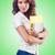 fáradt · diák · tankönyvek · fehér · mosoly · könyvek - stock fotó © elnur