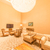 stijlvol · hotelkamer · prachtig · licht · muren · gestreept - stockfoto © elnur